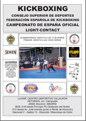 Kickboxing camp espa a oficial light contact gimnasio for Gimnasio yin yang